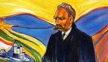 Un ritratto di Friedrich Nietzsche.