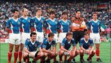 La nazionale jugoslava al suo esordio a Italia 90 contro la Germania Ovest a San Siro
