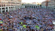 Leganes: festeggiamenti per la promozione in Liga nel 2016