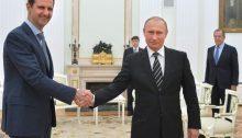 In foto: il presidente siriano Bashar Al Assad e quello russo, Vladimir Putin.