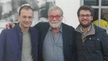 Al centro: il giornalista Sky Pio D'Emilia, a sx Giacomo, a dx Giuseppe