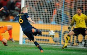 Iniesta segna il gol decisivo nella finale del Mondiale del 2010