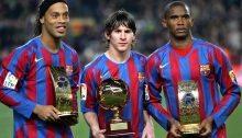 Un trio spettacolare: Ronaldinho, Messi, Eto'o
