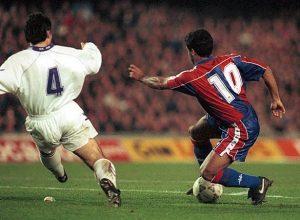 Romario, nel clasico del 1993/94 vinto dal Barcellona per cinque a zero