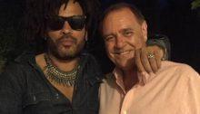 In foto: Lenny Kravitz con Clemente Mastella